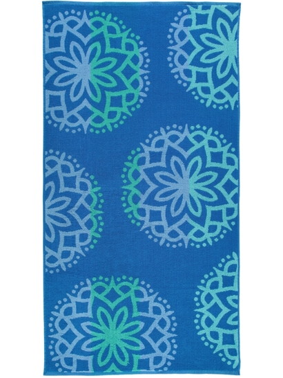 Printed Jacquard Terry Beach Towel