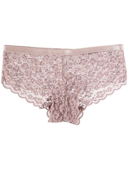 MISS MANGO LIGHT BROWN FLORAL LACE SHORTIE
