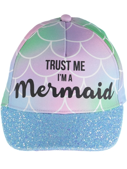Toddler Girl Mermaid Slogan Cap
