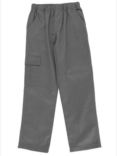 GREY BOYS CARGO DRILL PANTS