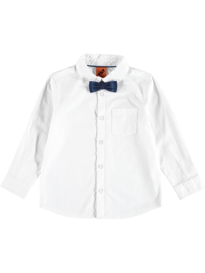 Tb Long Sleeve Shirt With Bow Tie
