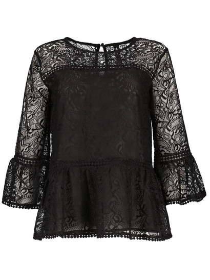 Lace Peplum Top Womens