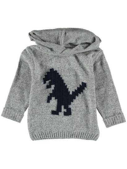 Boys Hooded Knit Sweater