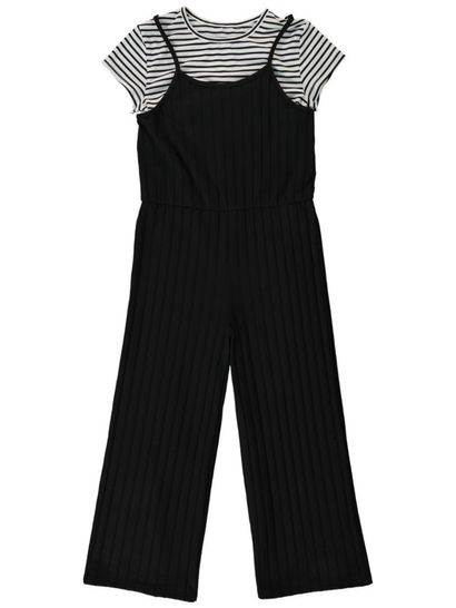 Girls Jumpsuit And Tee Set