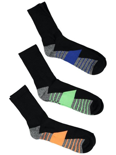 Mens Underworks 3Pk Crew Socks