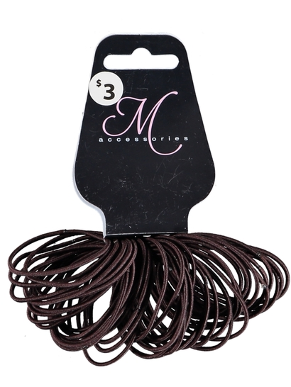 50 Pack Thin Hair Elastics
