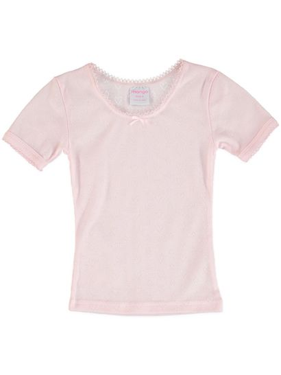 Girls Short Sleeve Thermal Top