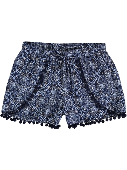 Womens Plus Pom Pom Short