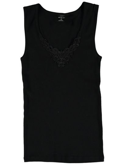 Thermal Vest With Lace Insert Womens