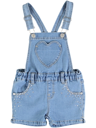 Toddler Girls Denim Shortall