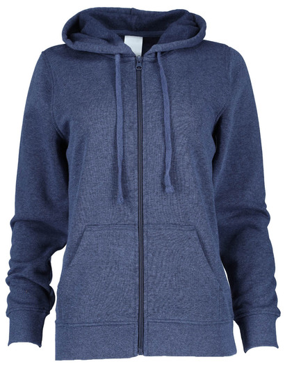 Plus Zip-Through Hooded Fleece Womens