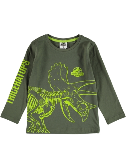 Toddler Boys Long Sleeve Jurassic Park T-Shirt