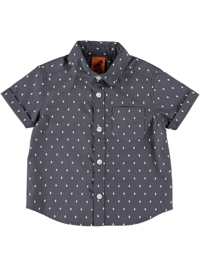 Toddler Boys Short Sleeve Woven Shirt
