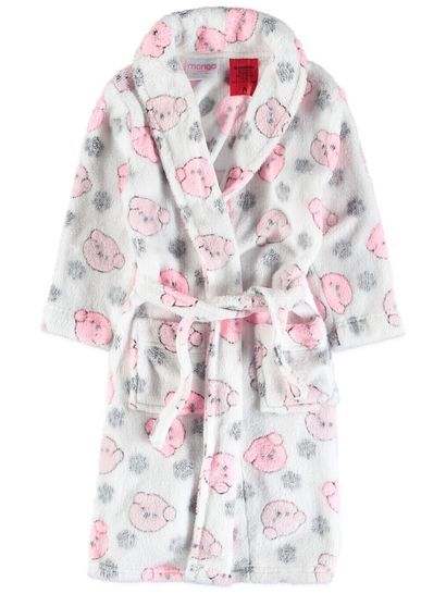 Girls Coral Fleece Gown