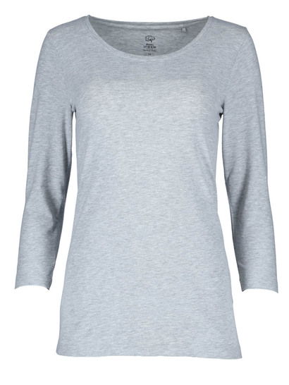 Plus Organic Cotton Blend 3/4 Sleeve Tee Womens