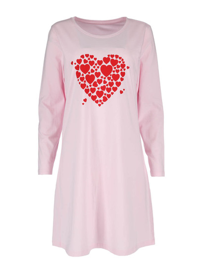 Long Sleeve Knit Nightie Womens