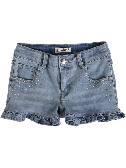 Girls Frill Denim Short