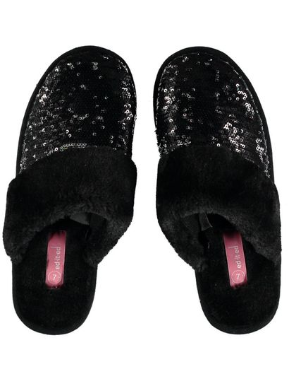 Women Flip Sequin Mule Slipper