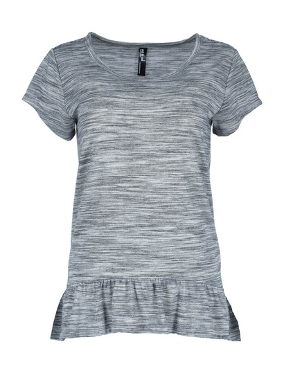 Plus Space-Dye Peplum Tee Womens