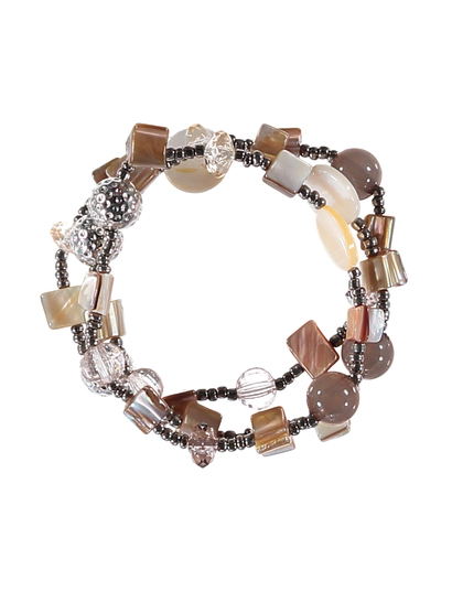 Womens Multi Bead Stretch Bracelet