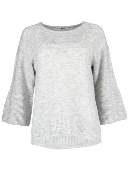 Plus Double Frill Sleeve Pullover Womens
