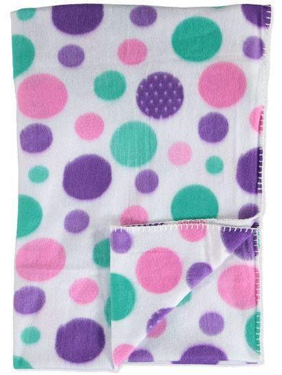 PRINT POLAR FLEECE THROW 152X127CM