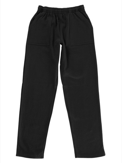 BLACK KIDS FLEECE TRACKPANTS