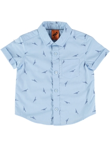 Toddler Boys Short Sleeve Print Shirt