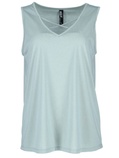 Plus Crossover Neck Tank Womens