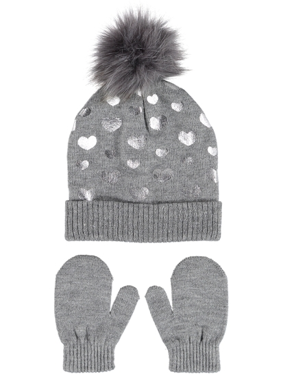 27a6e0717a384 Toddler Girl Beanie And Glove Set
