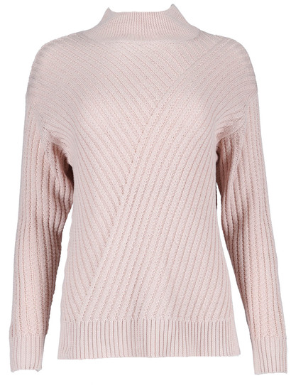 High Neck Cable Pullover Womens
