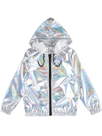 Girls Rainbow Foil Jacket