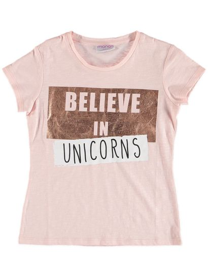 Girls Unicorn Foil Tee