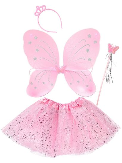 Dress Up Fairy Wings And Skirt Set
