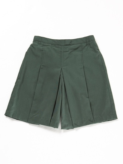 BOTTLE GREEN GIRLS WOVEN SKORTS