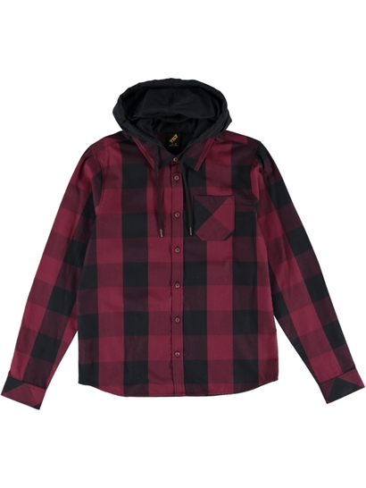 Boys Hooded Flannel Shirt