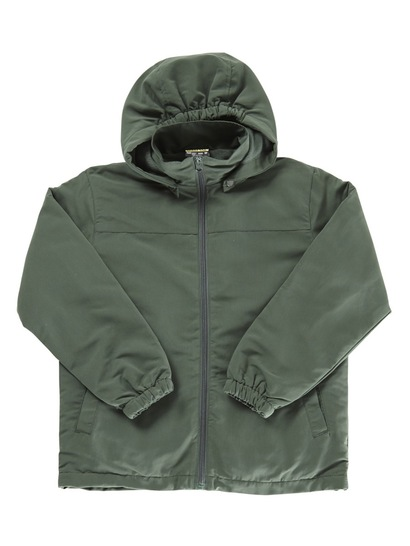 BOTTLE GREEN KIDS JACKET WITH DETACHABLE HOOD