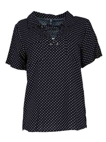 Plus Laced Up Eyelet Shirt Womens