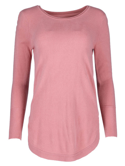 Plus Curve Hem Pullover Womens