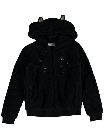Girls Fleece Cat Hoody