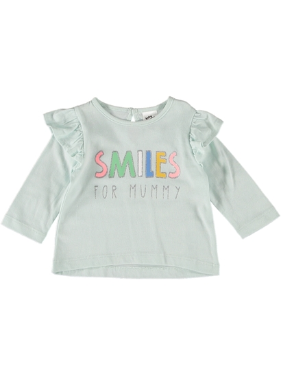 Baby Long Sleeve Ruffle Shirt