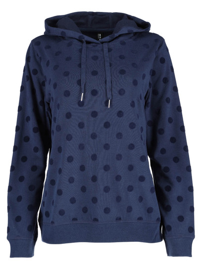 Plus Flocked Hoodie Womens