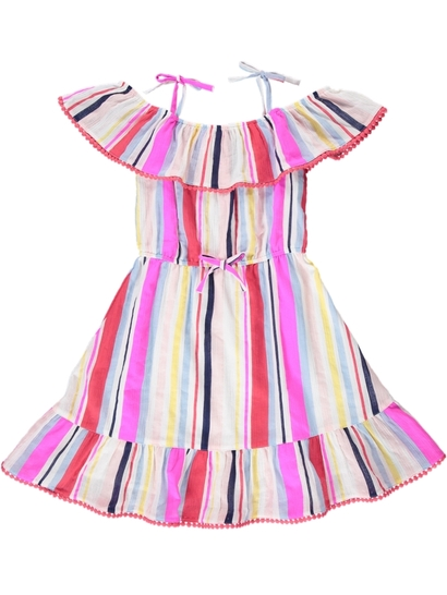 Girls Candy Stripe Dress