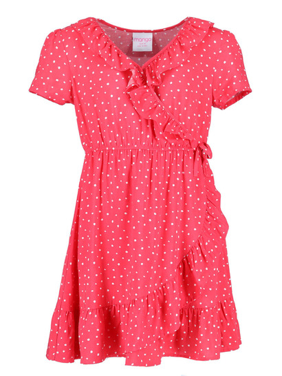 Girls Ruffle Wrap Dress