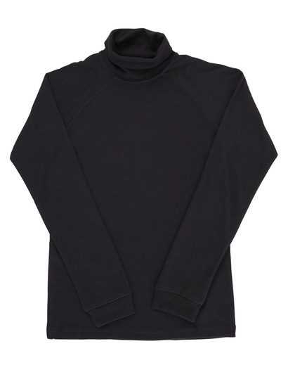 BLACK KIDS INTERLOCK SKIVVY