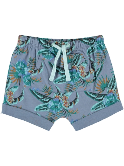 Baby Cotton Blend Print Shorts
