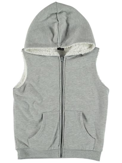 Boys Plain Sleeveless Sherpa Vest