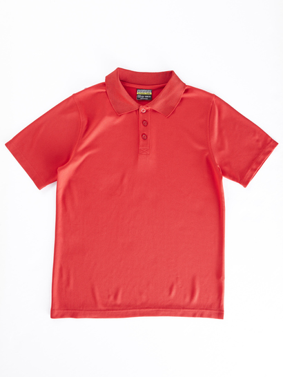 RED KIDS MESH POLO