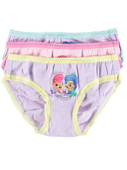 Girls 3 Pack Shimmer & Shine Brief