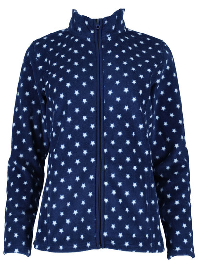 Plus Zip Through Polar Fleece Jacket Womens